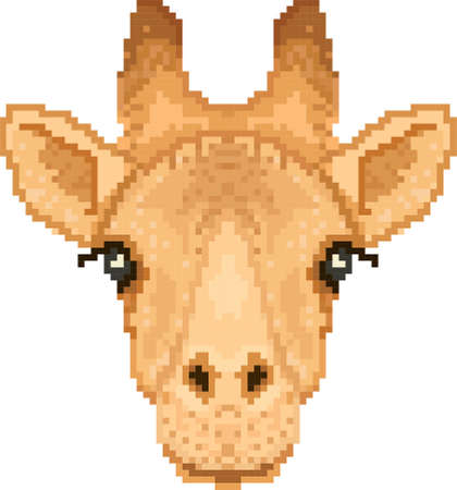 giraffe pixel art Imagens - 79145037