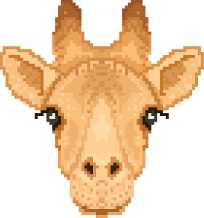 giraffe pixel art