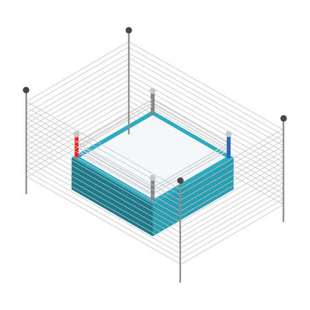 boxing ring with fence Illustration