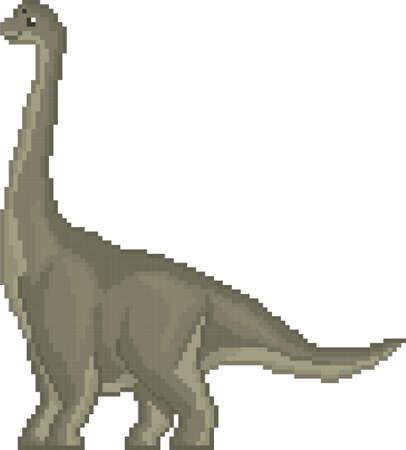 pixel brachiosaurus