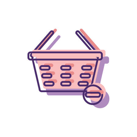 minus item from shopping basket symbol