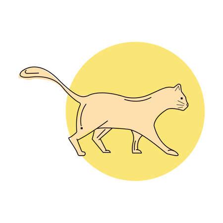 歩く猫  イラスト・ベクター素材