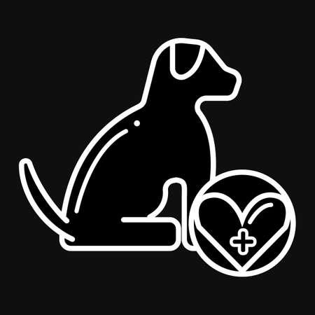 dog medical examination Ilustração