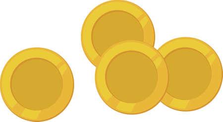 gelt: coins Illustration