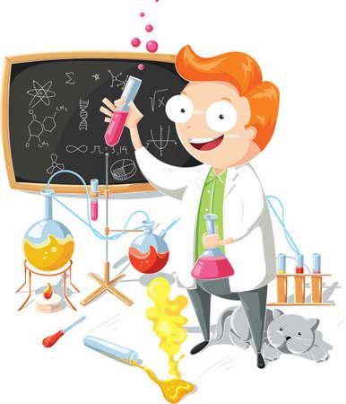 Cartoon scientist Banque d'images - 79145187