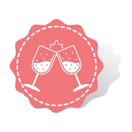 clinking wine glasses Illustration