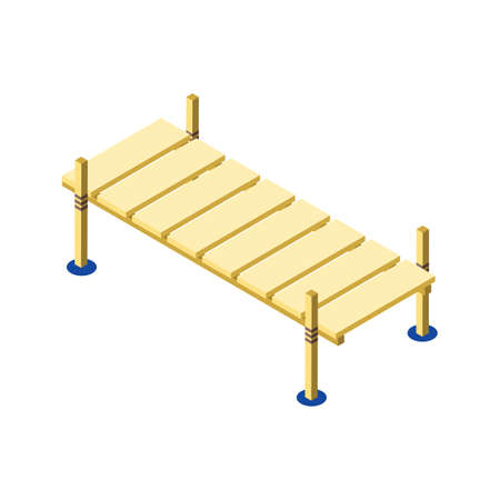 wooden pier Иллюстрация
