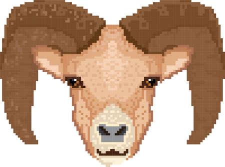 vertebrate: ram pixel art