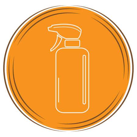 huisdierenspray fles Stock Illustratie