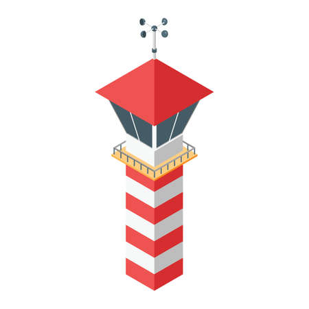 traffic controller: control tower Illustration