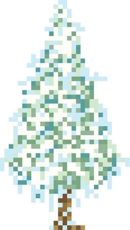 ピクセルの松の木