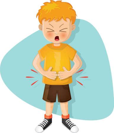 chłopiec z bólem brzucha