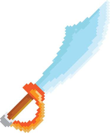 pirate sword pixel art Imagens - 79145346