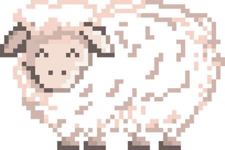 pixel sheep