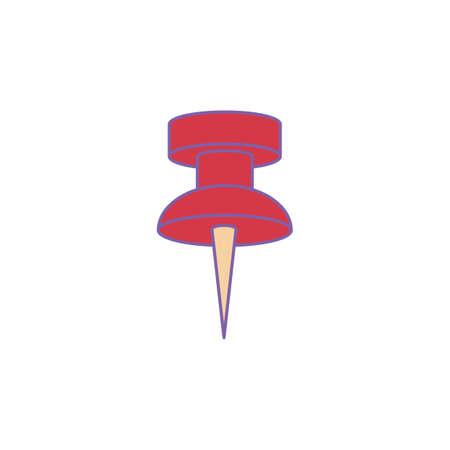 push pin Illustration