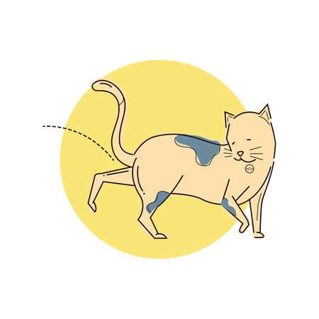 kattenplassen Stock Illustratie