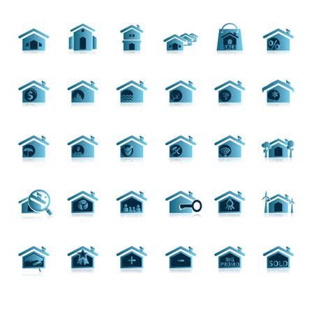 부동산 아이콘 집합