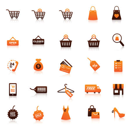 e commerce icon: set of shop icons Illustration