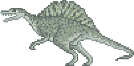 pixel spinosaurus
