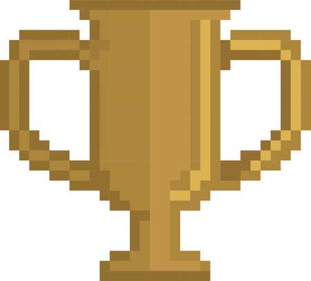 pixel bronze trophy Illustration