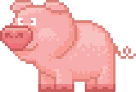 vertebrate: pixel pig Illustration