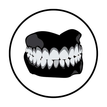 stained teeth with gum Ilustração