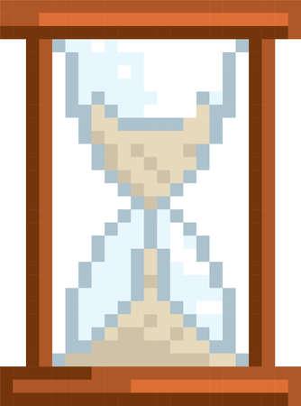 pixel hourglass 向量圖像