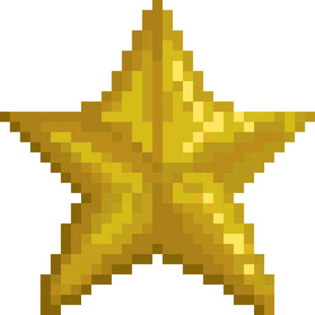 pixel gold star Illustration