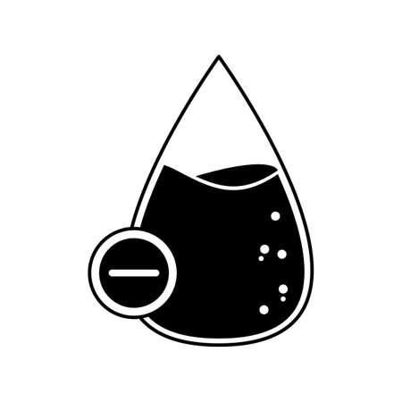 네거티브 마크가있는 혈액 방울 스톡 콘텐츠 - 79218497