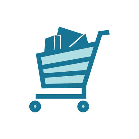 e commerce icon: shopping cart Illustration