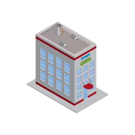 sports center building Illustration