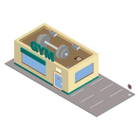 gym building Illustration