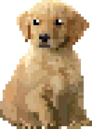 子犬犬  イラスト・ベクター素材