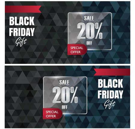 black friday gift vouchers 向量圖像