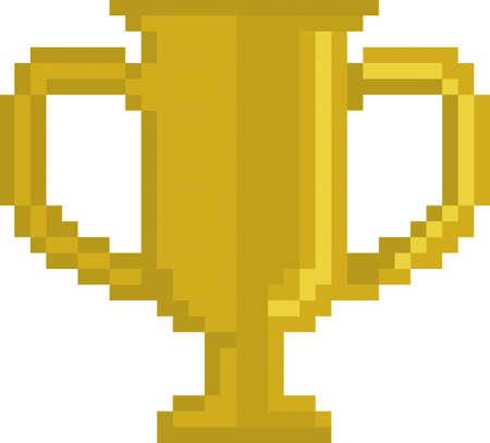 pixel gold trophy Illustration