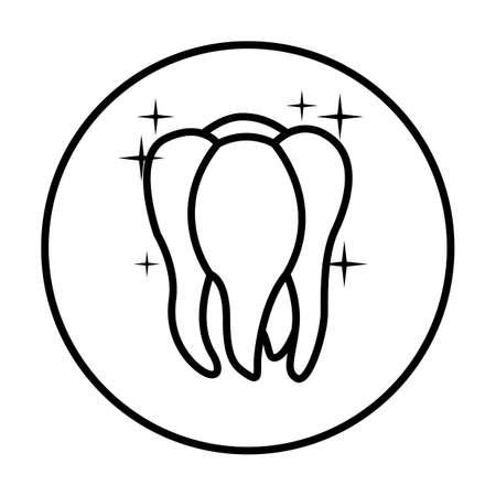 shiny tooth icon Imagens - 79218363