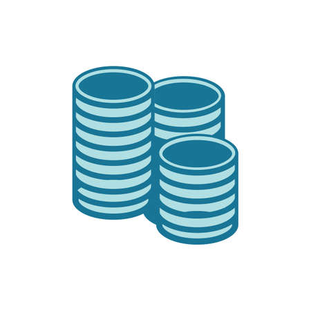 stack of coins Illustration