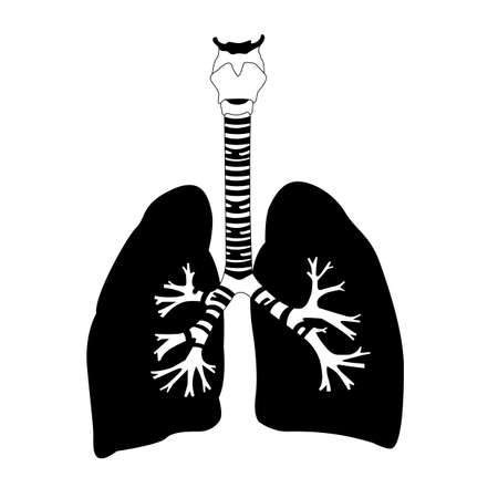 lungs breathing in Ilustracja