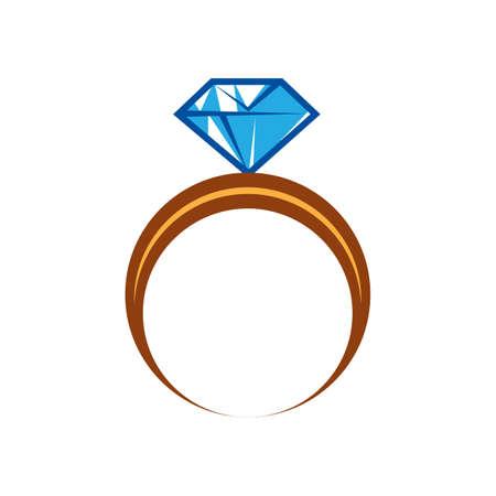 Anel de diamante Foto de archivo - 79218275