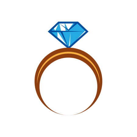 diamond ring Иллюстрация