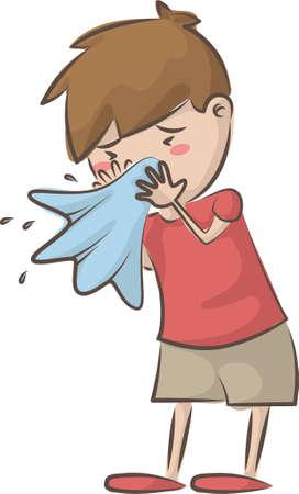 boy having a cold