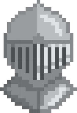 pixel steel helmet 向量圖像