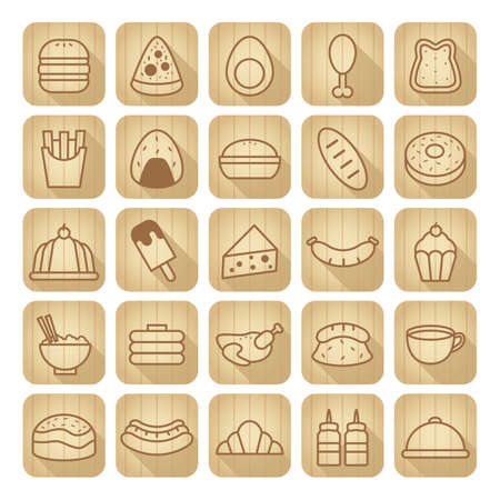set of food icons Stock Vector - 79218239