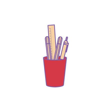 schrijfbehoeften Stock Illustratie