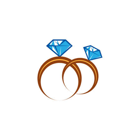 wedding rings Иллюстрация