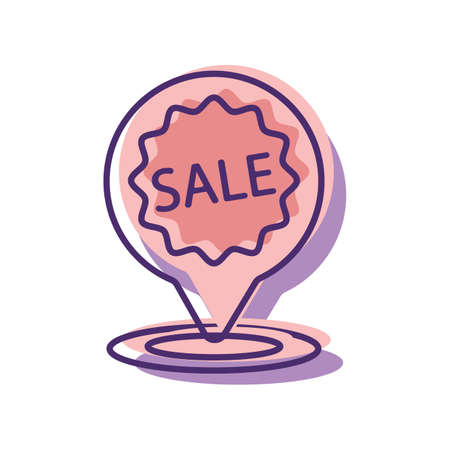 e commerce icon: sale destination