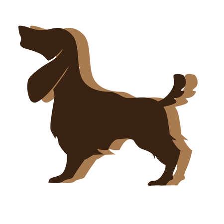 basset hound Иллюстрация