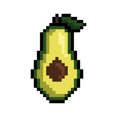pixel art avocado Фото со стока - 79238299