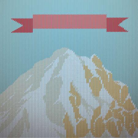 Alpines Hintergrunddesign Standard-Bild - 79238318