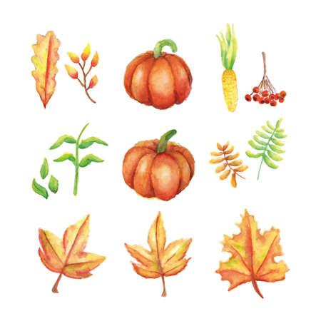 set of autumn icons